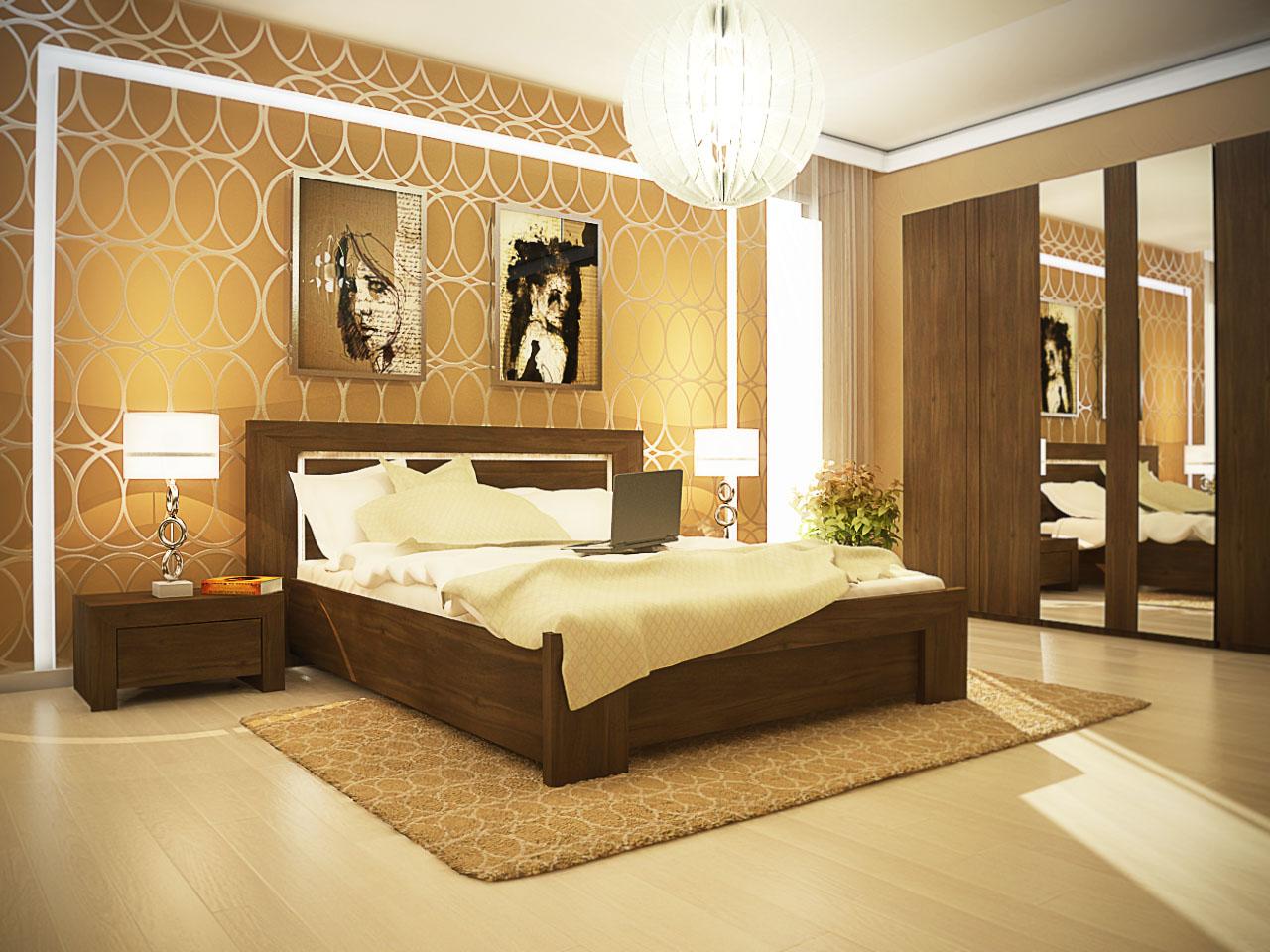 Дизайн интерьера спальни в стиле хай тек